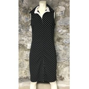 Express dress women's sz 13 14 black white striped